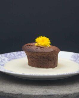 Moelleux au chocolat et crème anglaise