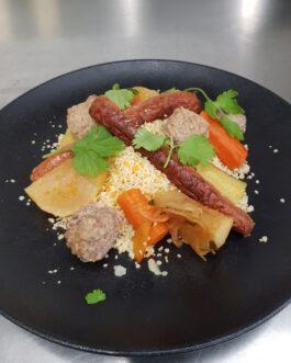 Le plat hors menu (Millefeuille Terre-Mer avec Risotto aux légumes)